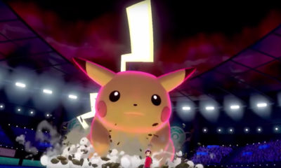 Gigantamax Pikachu and Eevee in Pokémon Sword and Shield