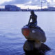 Denmark- Copenhagen's Little Mermaid statue sprayed with Free Hong Long image