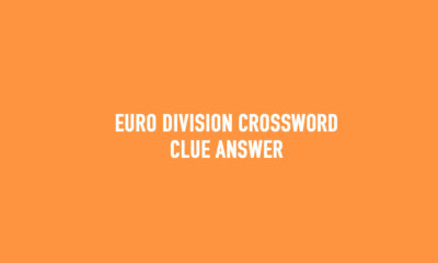 Euro division crossword clue Answer