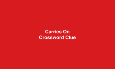 Carries on crossword clue Solution