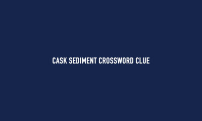 Cask sediment crossword clue Solution