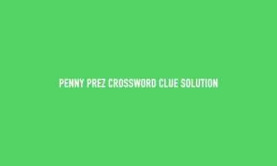 Penny prez crossword clue Solution