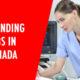 Trending jobs in canada